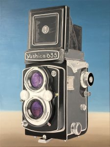 1e laag schilderij Yashica 635 door Rob de Vries