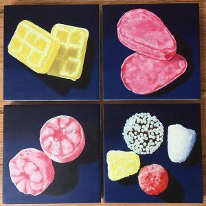 2e laag snoepschilderijen door Rob de Vries
