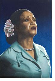 Portret Ruth Jacott, olieverf, door Rob de Vries