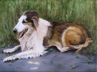 Portret Sierra, olieverf, door Rob de Vries
